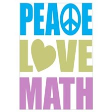 Peace Love Math Wall Art