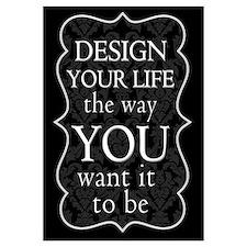 """Design Your Life"" Wall Art"