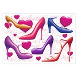I Love Shoes Wall Art