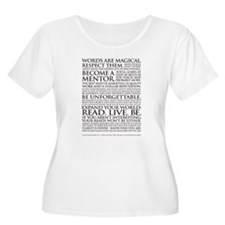 Wmns Plus Sz Voice Talent Manifesto Scoop Neck T