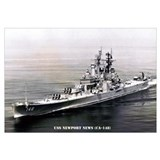 USS NEWPORT NEWS Wall Art