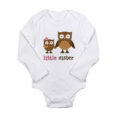 Little Sister - Mod Owl Long Sleeve Infant Bodysui