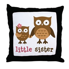 Little Sister - Mod Owl Throw Pillow