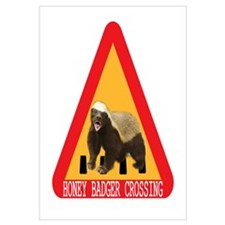 Honey Badger Crossing Sign Wall Art