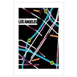 Downtown Los Angeles Map, 16 x 20 Poster