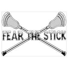 Lacrosse Fear the Stick Wall Art