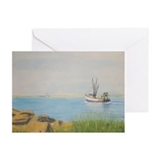 Fishing Boats - Galilee RI Greeting Cards (Pk of 1