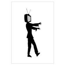 TV Zombie Wall Art