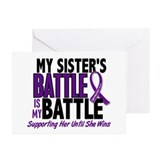 My Battle Too Pancreatic Cancer Greeting Cards (Pk