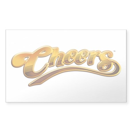 Cheers Logo Rectangle Sticker