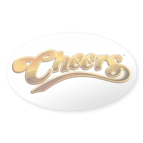 Cheers Logo Oval Sticker