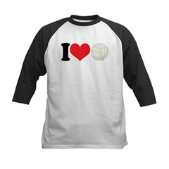 I Heart Volleyball Gift Kids Baseball Jersey