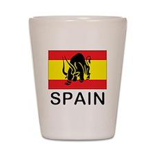 Spain Running Of The Bulls Shot Glass