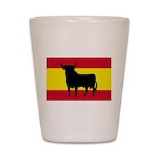 Spain Bull Flag Shot Glass