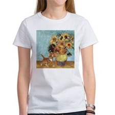 Sunflowers & Kitten Tee