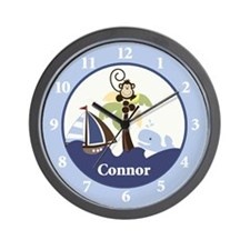 Ahoy Mate Monkey Wall Clock - Connor