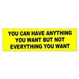 anything you want... Bumper Car Sticker