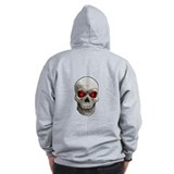 Cracked Skull Zip Hoody