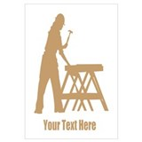 Carpenter. Add Your Text. Wall Art