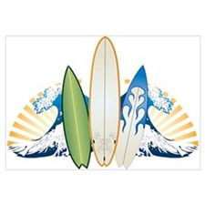Surfboards Wall Art