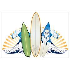 Surfboards Wall Art