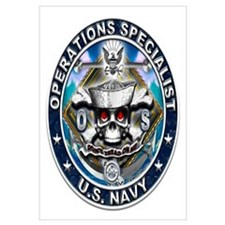 USN Operations Specialist Sku Wall Art