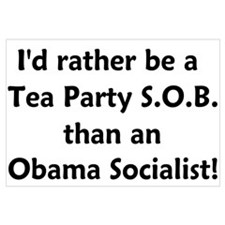 Tea Party SOB Wall Art