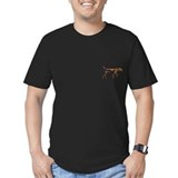 Men's Vizsla Dark Fitted T-Shirt (illustration)