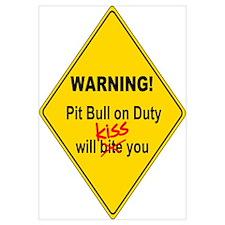 Pit Bull will KISS Wall Art
