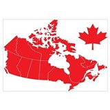 Canada Map Wall Art