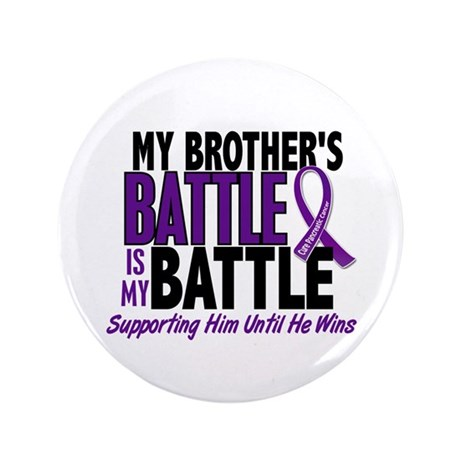 "My Battle Too Pancreatic Cancer 3.5"" Button (100 p"