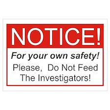 Notice / Investigators Wall Art