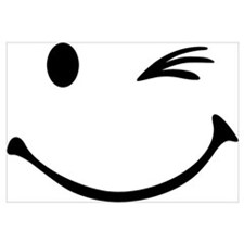 Smiley wink Wall Art
