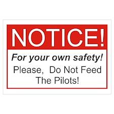 Notice / Pilots Wall Art