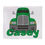 Trucker Casey Throw Blanket