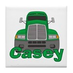 Trucker Casey Tile Coaster