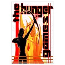 Katniss on Fire Hunger Games Gear Wall Art