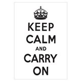 Keep Calm and Carry On Wall Art
