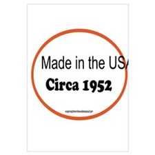 Made in the USA Circa 1952 Wall Art