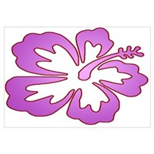 Surf Flowers (Purple with Red Wall Art