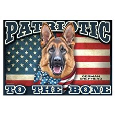 Patriotic - German Shepherd Wall Art