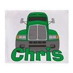 Trucker Chris Throw Blanket
