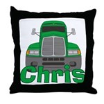 Trucker Chris Throw Pillow