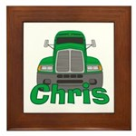 Trucker Chris Framed Tile