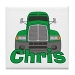 Trucker Chris Tile Coaster