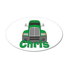 Trucker Chris 38.5 x 24.5 Oval Wall Peel