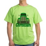 Trucker Christian Green T-Shirt