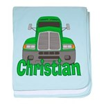 Trucker Christian baby blanket