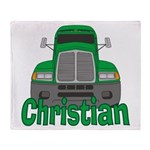 Trucker Christian Throw Blanket