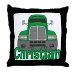Trucker Christian Throw Pillow